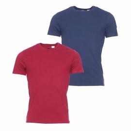 Lot de 2 tee-shirts col rond Levi's en coton bleu marine et bordeaux