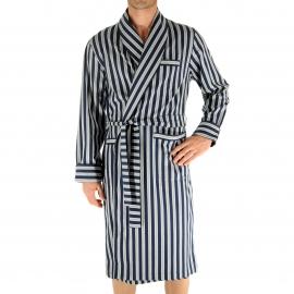 Kimono Christian Cane Nathan à rayures écrues et bleu marine