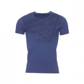 Tee-shirt Guess en coton stretch bleu nuit