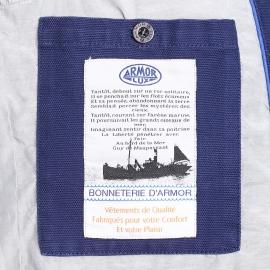 Caban Amor Lux en coton bleu marine