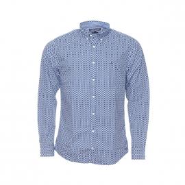 Chemise ajustée Tommy Hilfiger en coton bleu à cercles blancs