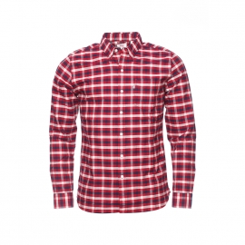 Chemise droite Levi's en coton à carreaux rouges, bleu marine et beiges