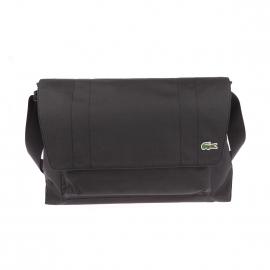 Porte-ordinateur à rabat Neocroc Lacoste en tissu noir