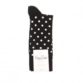 Chaussettes Happy Socks en coton noir à pois crème