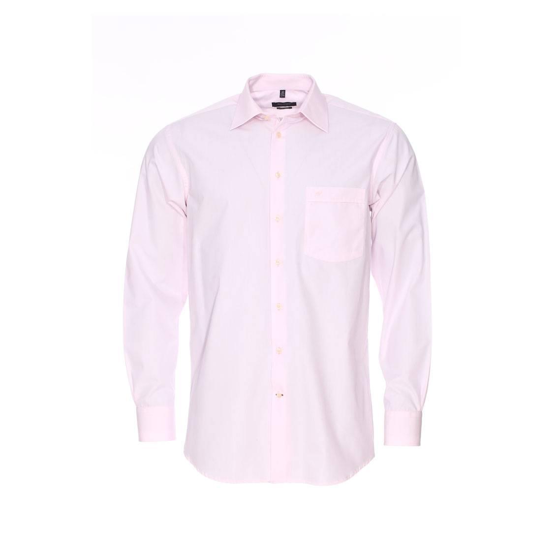 chemise droite jean chatel rose p le repassage facile. Black Bedroom Furniture Sets. Home Design Ideas