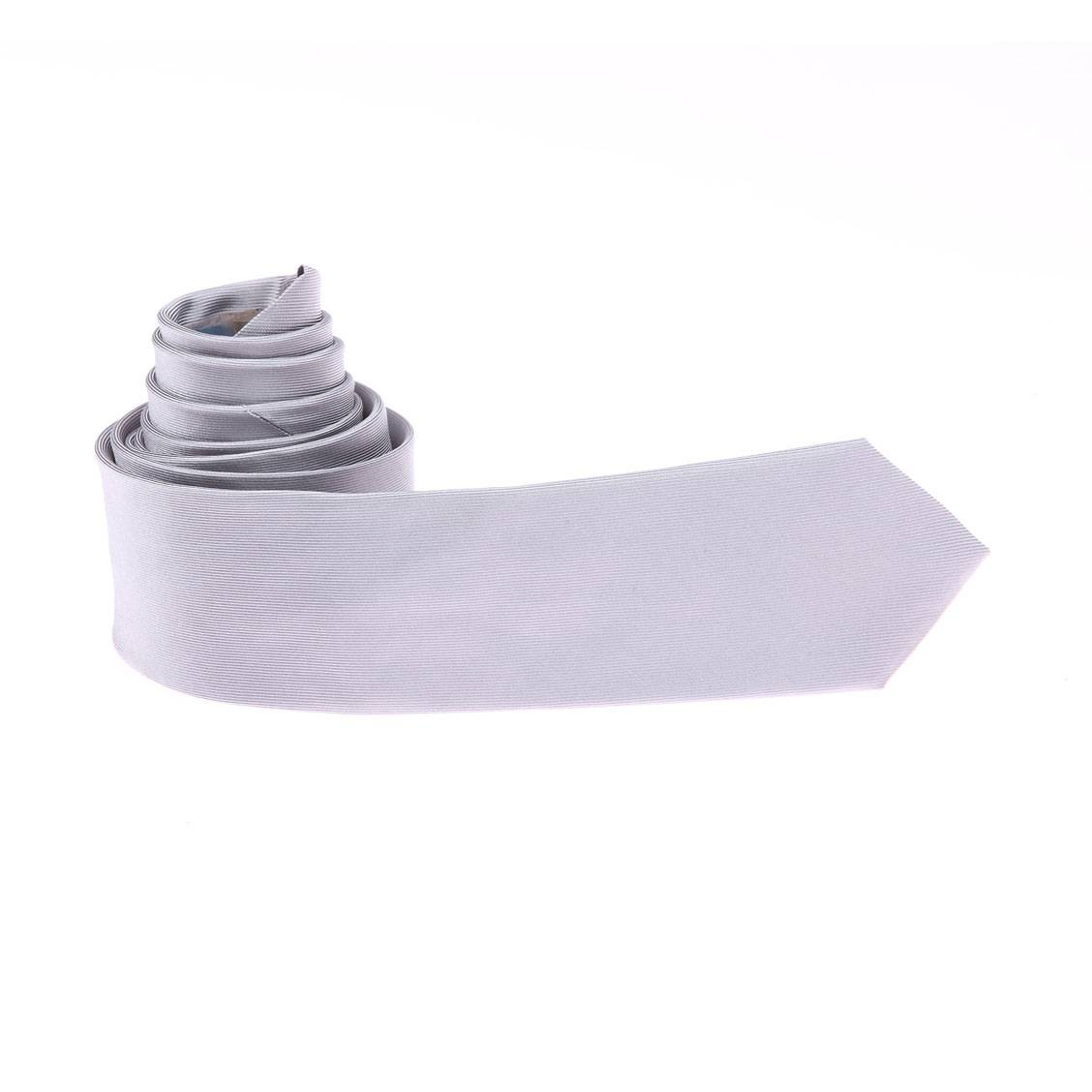 Cravate Antony Morato en soie grise perle