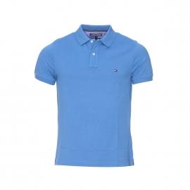 Polo slim fit Tommy Hilfiger en coton premium piqué bleu