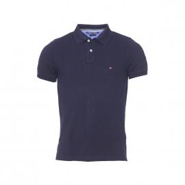Polo slim fit Tommy Hilfiger en coton premium piqué bleu marine