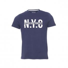 Tee-shirt Wyatt Tommy Hilfiger en coton biologique bleu marine floqué NYC