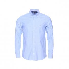 Chemise cintrée Tommy Hilfiger en oxford bleu clair