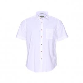 Chemise manches courtes MCS en coton blanc