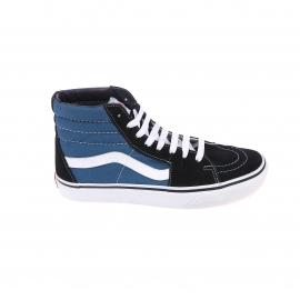 Baskets hautes SK8-HI Vans en toile bleue à empiècement en daim bleu marine