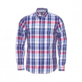Chemise ajustée Tommy Hilfiger en coton à carreaux bleus, blancs, rouges et jaunes