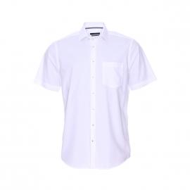 Chemise manches courtes Splendesto Seidensticker en fil à fil blanc