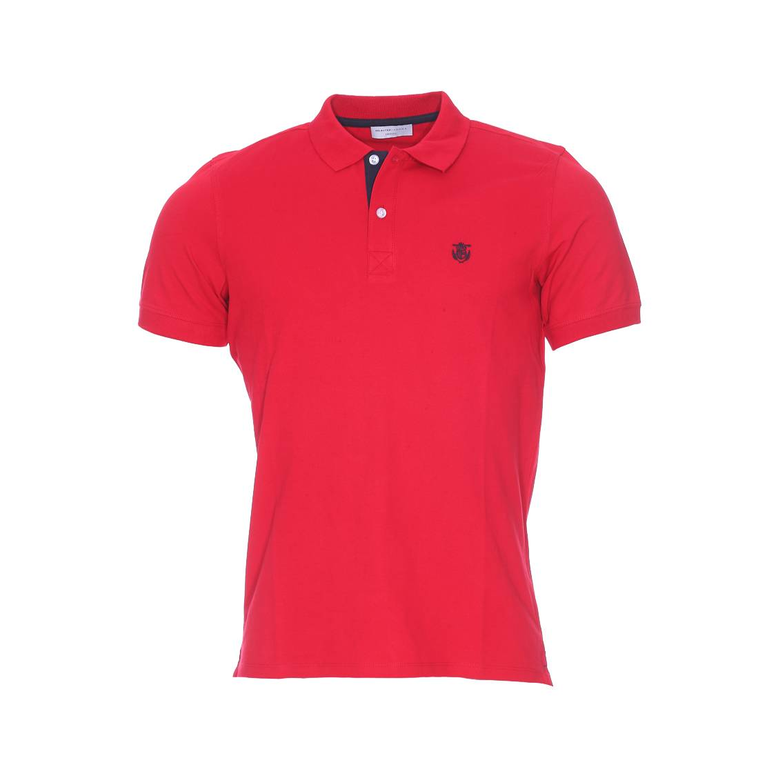 Polos à manches courtes Selected rouges homme