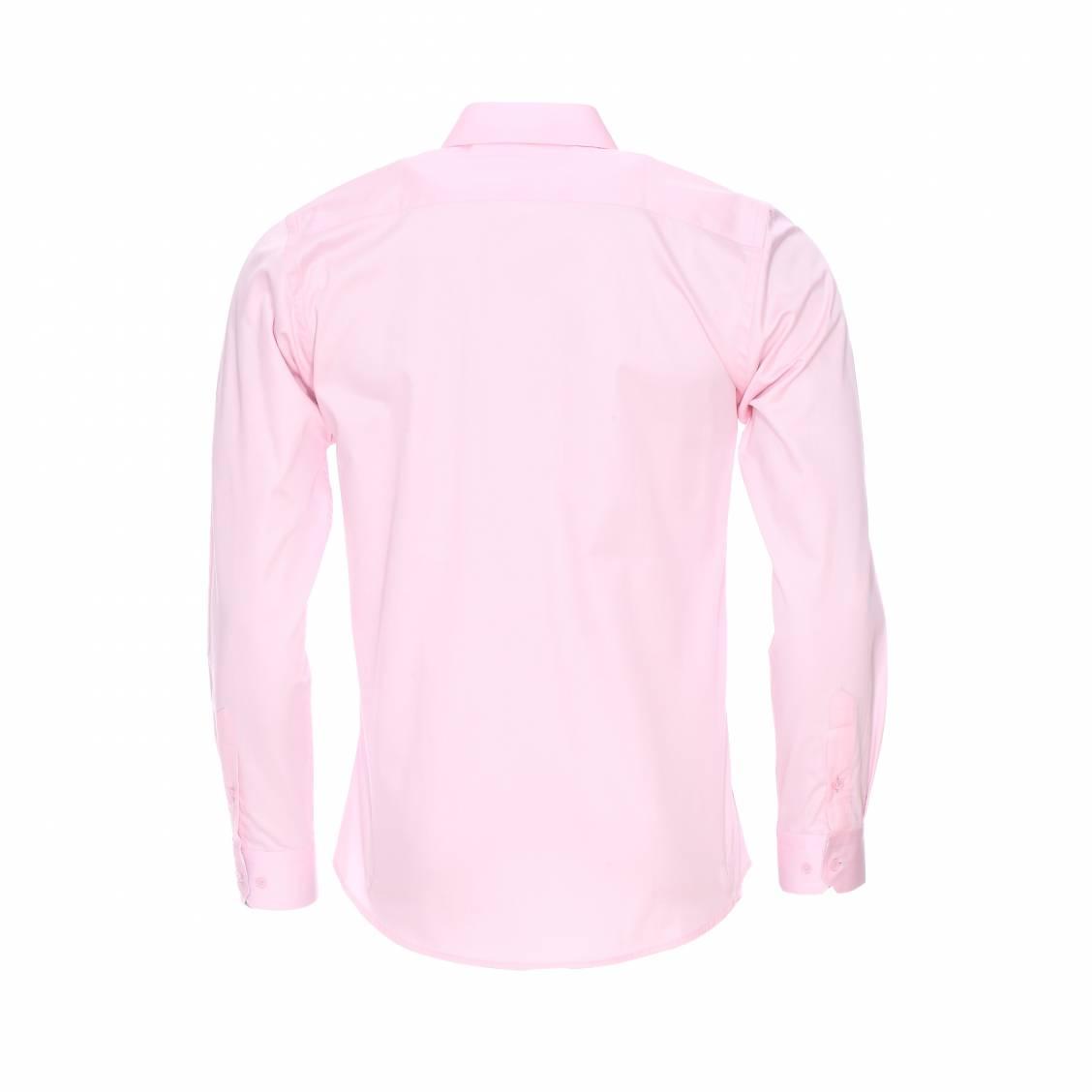 chemise cintr e m adrine en coton rose p le opposition carreaux gris et blancs rue des hommes. Black Bedroom Furniture Sets. Home Design Ideas