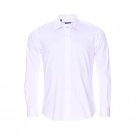 Chemise cintrée Méadrine en coton blanc
