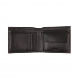 Portefeuille italien Guess noir monogrammé