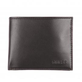 Portefeuille basic italien Guess en cuir lisse noir