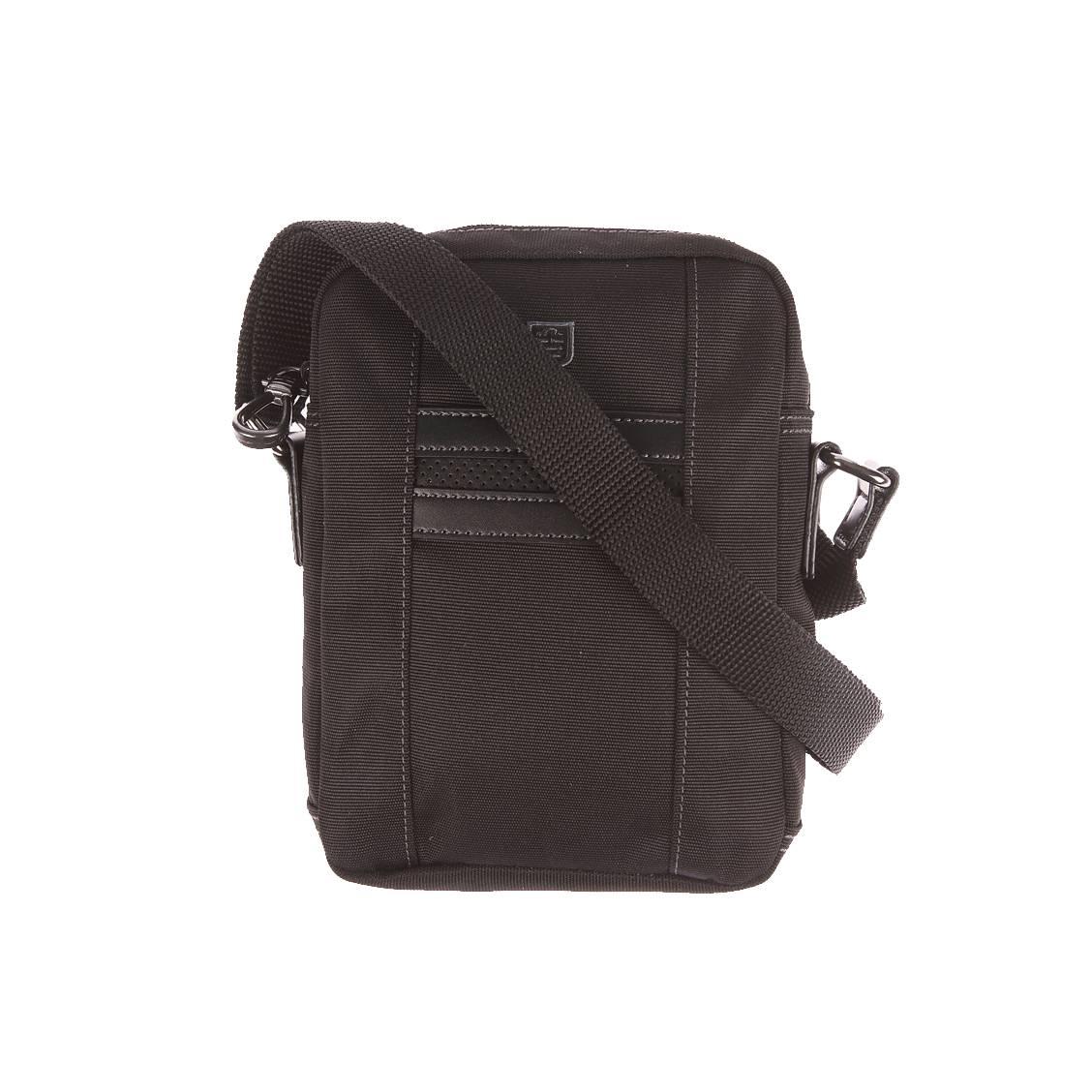Petite sacoche Serge Blanco en toile noire à 2 compartiments X6ZCd4FQq9