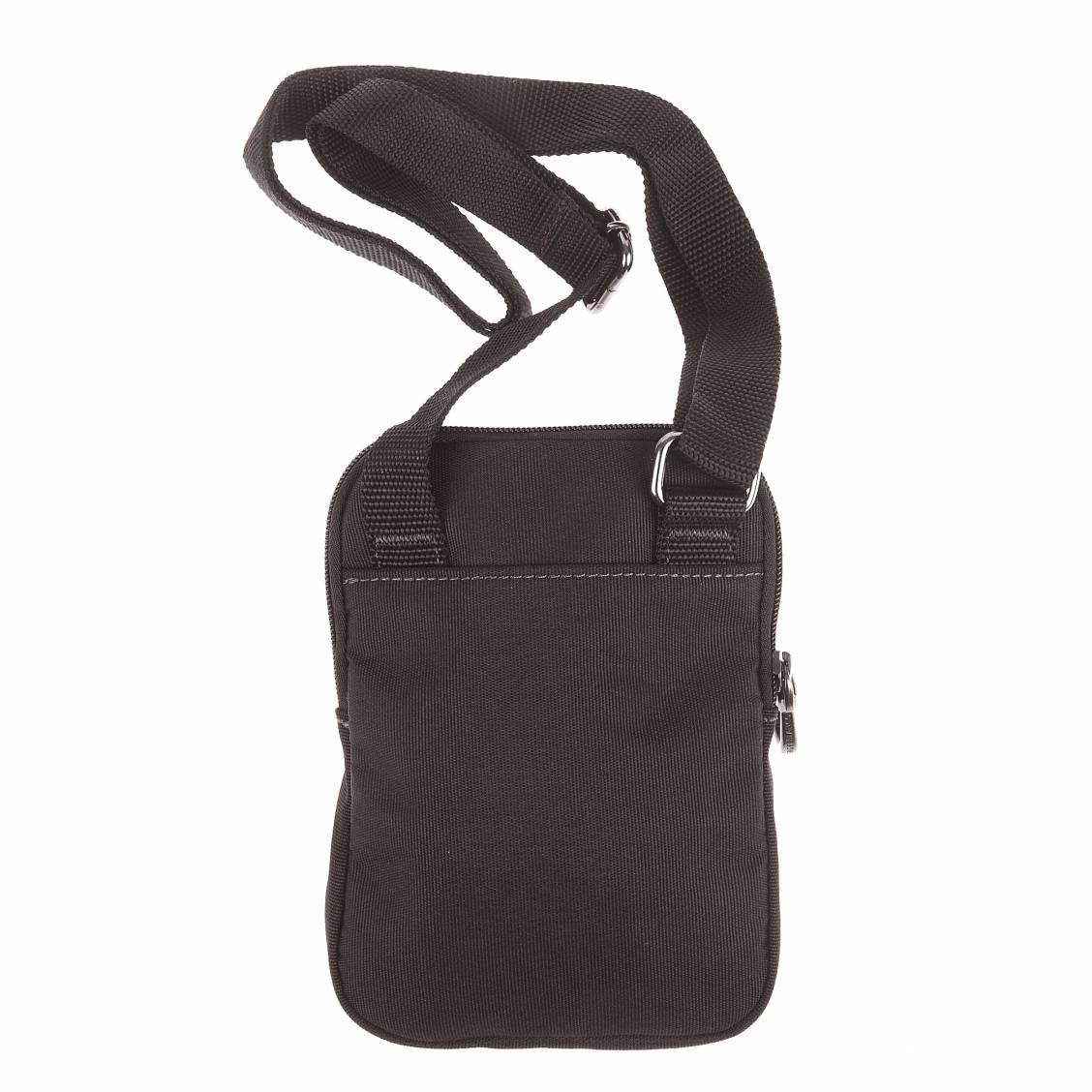 Petite sacoche plate Palatino Serge Blanco en tissu noir 83oFRz