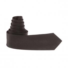 Cravate slim Antony Morato en soie noire à carreaux ton sur ton