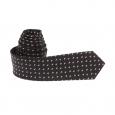 Cravate slim Antony Morato en soie noire à motifs losanges blancs