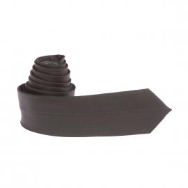 Cravate slim Antony Morato en soie noire à fines rayures ton sur ton