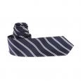 Cravate slim Antony Morato en soie bleu marine à rayures blanches
