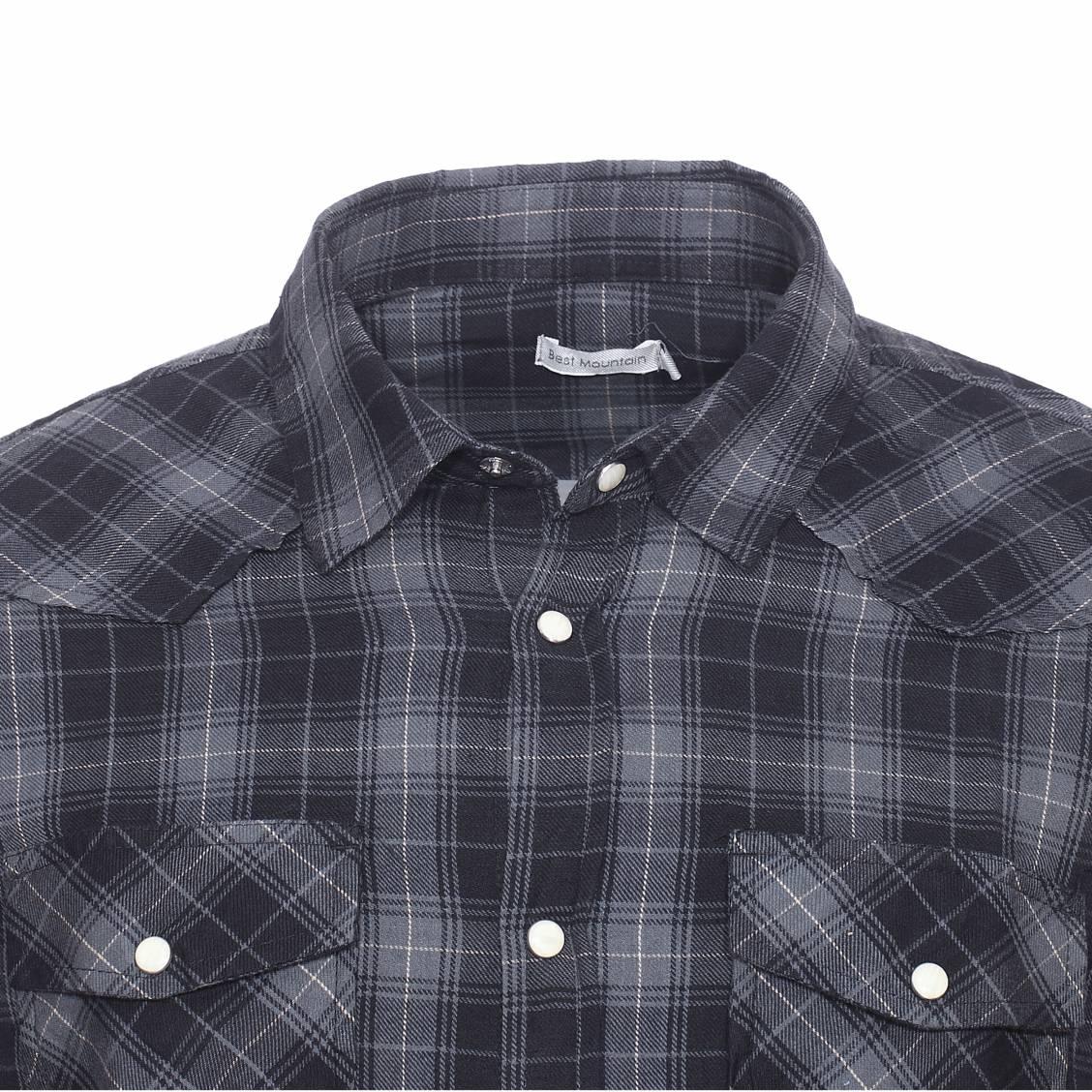chemise best mountain en flanelle petits carreaux gris anthracite et noirs rue des hommes. Black Bedroom Furniture Sets. Home Design Ideas