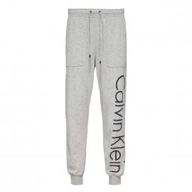 Pantalon de jogging Calvin Klein gris chiné floqué en noir