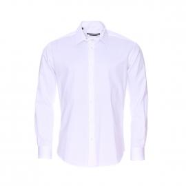 Chemise cintrée Gianni Ferrucci en coton blanc satiné