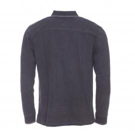 Polo manches longues Bropol TBS en coton noir toucher velours