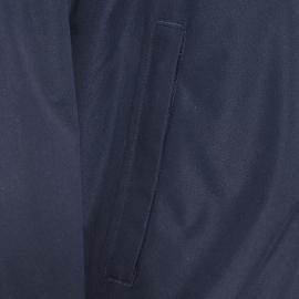 Parka Bermudes matelassée bleu marine à capuche dissimulée