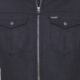 Veste Wrangler en laine mélangée noire à col moletonné