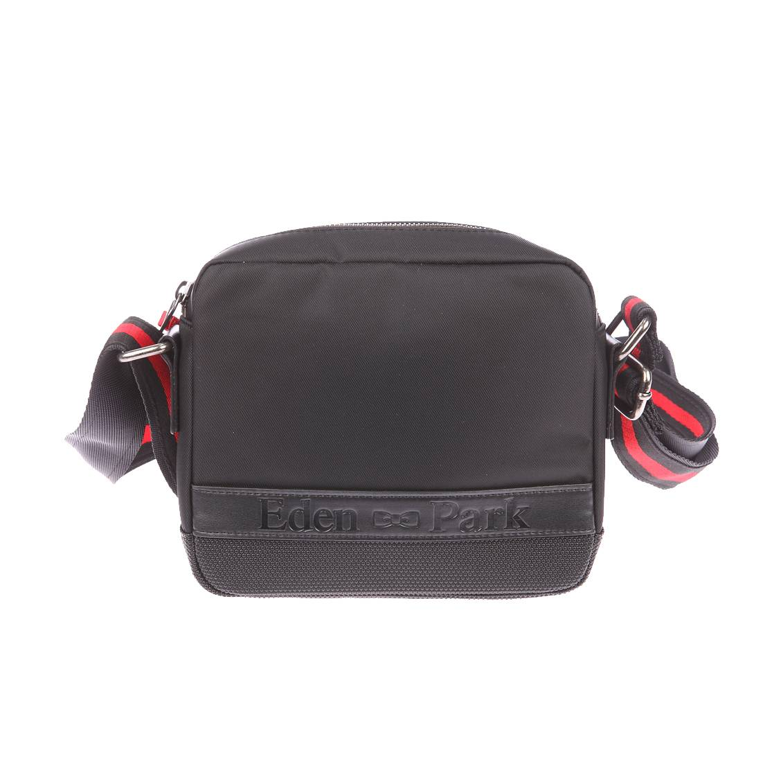 Sacoche carrée à bandoulière  en nylon noir