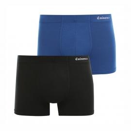 Lot de 2 boxers Eminence en micromodal stretch : 1 modèle noir et 1 modèle bleu prusse