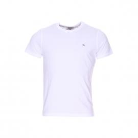 Tee-shirt col rond Original Hilfiger Denim en coton blanc