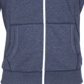Sweat zippé à capuche Original Hilfiger Denim bleu marine chiné