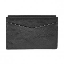 Porte-cartes Ingram Fossil en cuir noir