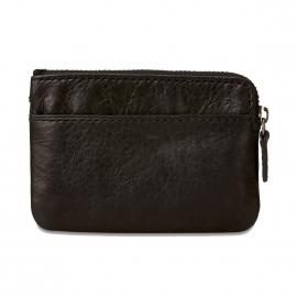 Porte-monnaie zippé Ingram Fossil en cuir noir