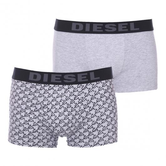 lot de 2 boxers diesel en coton stretch gris chin et. Black Bedroom Furniture Sets. Home Design Ideas