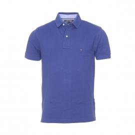 Polo Tommy Hilfiger en coton maille piquée bleu indigo