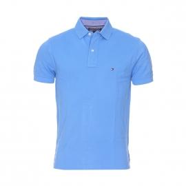 Polo Tommy Hilfiger en coton maille piquée bleu roi
