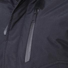Blouson Tornado Schott N.Y.C en nylon noir à capuche à fourrure