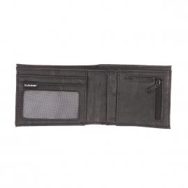 Portefeuille Dakine Rufus en vinyle noir à l'avant et gris à l'arrière