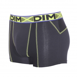 Lot de 2 boxers Dim 3D Flex Air en coton stretch aéré et extensible bleu roi et noir - Elu produit de l'année 2016