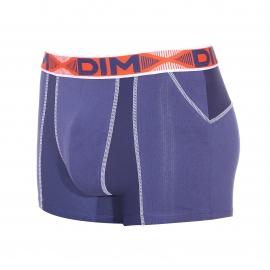 Lot de 2 boxers Dim 3D Flex Air en coton stretch aéré et extensible bleu nuit et orange - Elu produit de l'année 2016