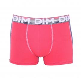 Lot de 2 boxers Dim 3F Flex Dynamic en coton stretch : 1 modèle rose pop et bleu nuit et 1 modèle rose pop et gris foncé