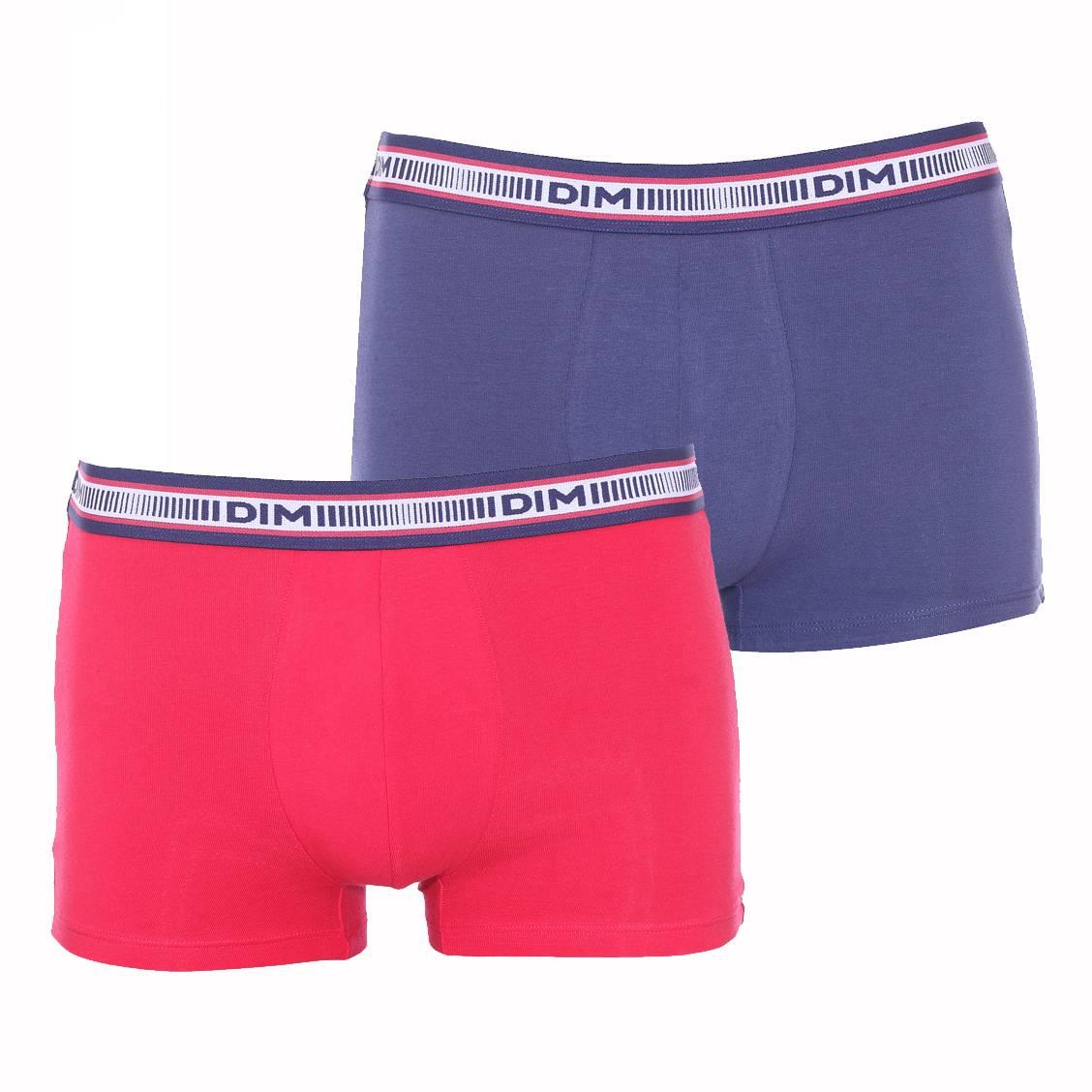 Lot de 2 boxers Dim 3D Flex en coton stretch bleu nuit et ...